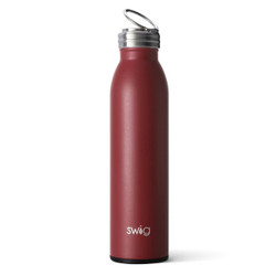 Swig 20oz Bottle Matte Maroon Black