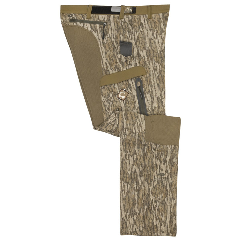 Ol' Tom Tech Stretch Turkey Pants in Mossy Oak Bottomland Color