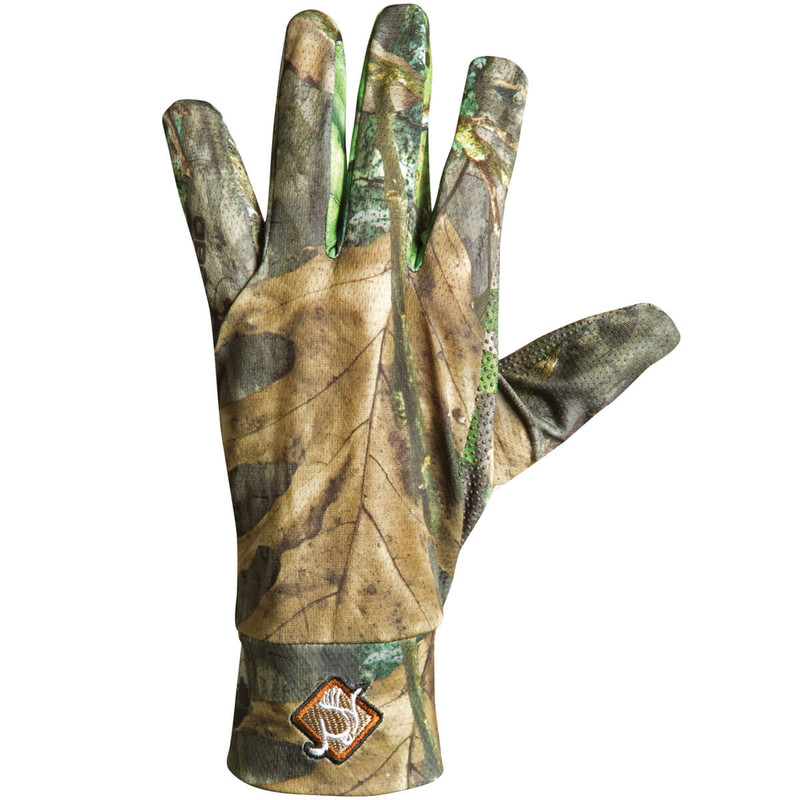 Ol' Tom Stretch Fit Hunting Gloves in New Mossy Oak Obsession Color