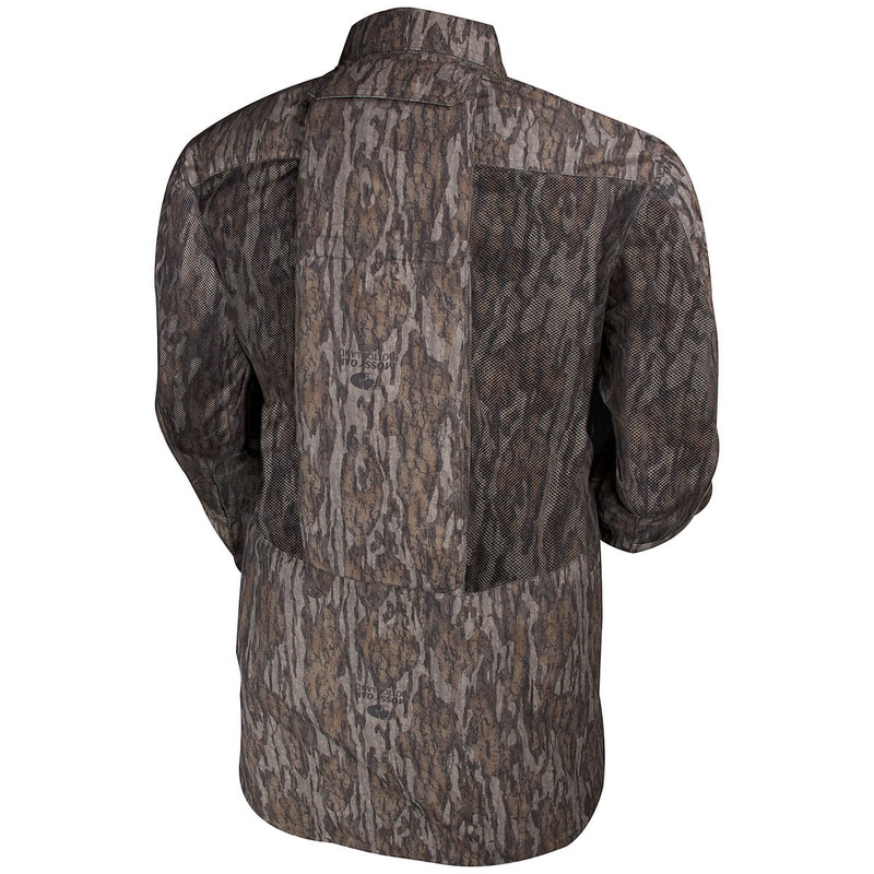Ol' Tom Dura Lite Vestless Mesh Back Shirt with Spine Pad in Mossy Oak Bottomland Color