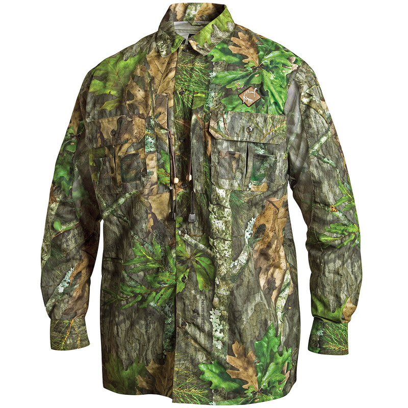 Ol' Tom Dura Lite Vestless Mesh Back Shirt with Spine Pad in New Mossy Oak Obsession Color
