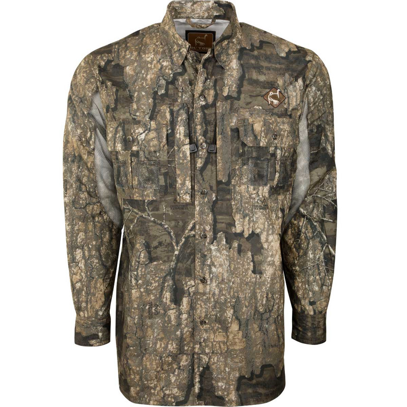 Ol' Tom Dura Lite Vestless Mesh Back Shirt with Spine Pad in Realtree Timber Color
