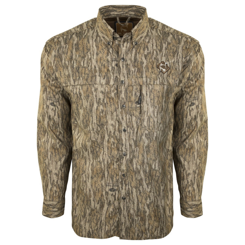 Ol'Tom Mesh Back Flyweight Shirt With Spine Pad in Mossy Oak Bottomland Color