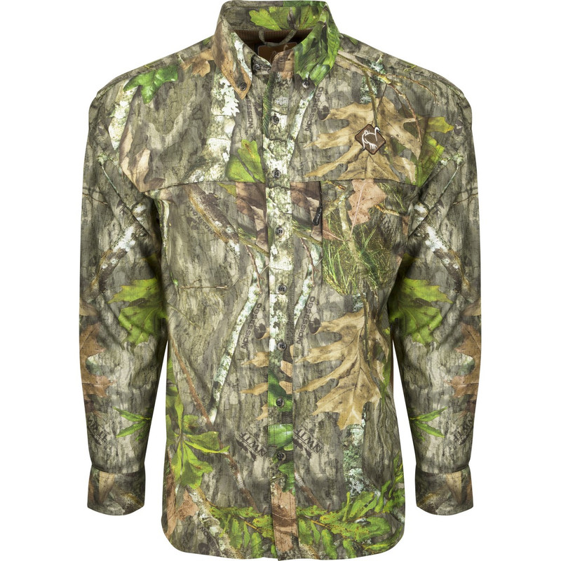 Ol'Tom Mesh Back Flyweight Shirt With Spine Pad in Mossy Oak Obsession Color