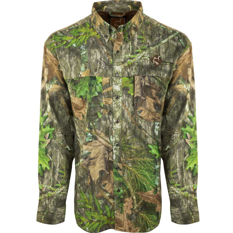 Ol'Tom Mesh Back Flyweight Shirt With Spine Pad in New Mossy Oak Obsession Color