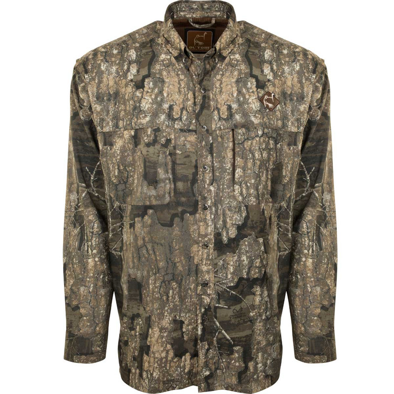 Ol'Tom Mesh Back Flyweight Shirt With Spine Pad in Realtree Timber Color