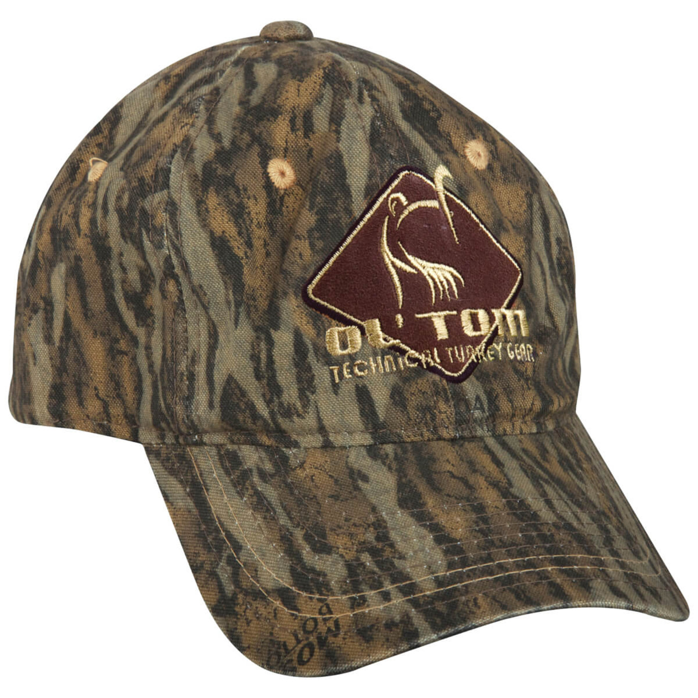 Ol'Tom Cotton Camo Cap in Mossy Oak Bottomland Color