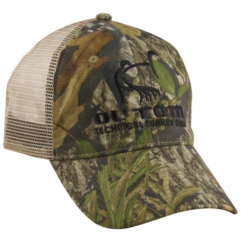 Ol' Tom Mesh Back Camo Baseball Cap in New Mossy Oak Obsession Color