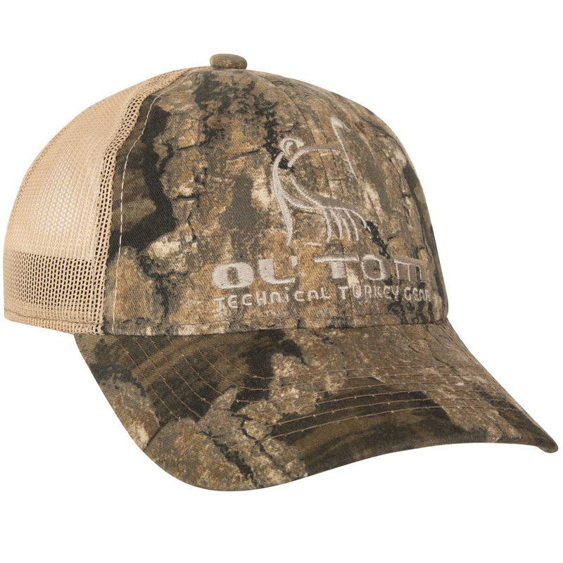 Ol' Tom Mesh Back Camo Baseball Cap in Realtree Timber Color