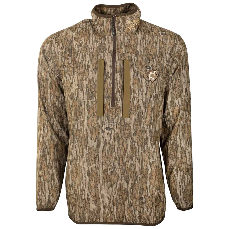 Ol' Tom Tech Quarter Zip Jacket with Spine Pad in Mossy Oak Bottomland Color