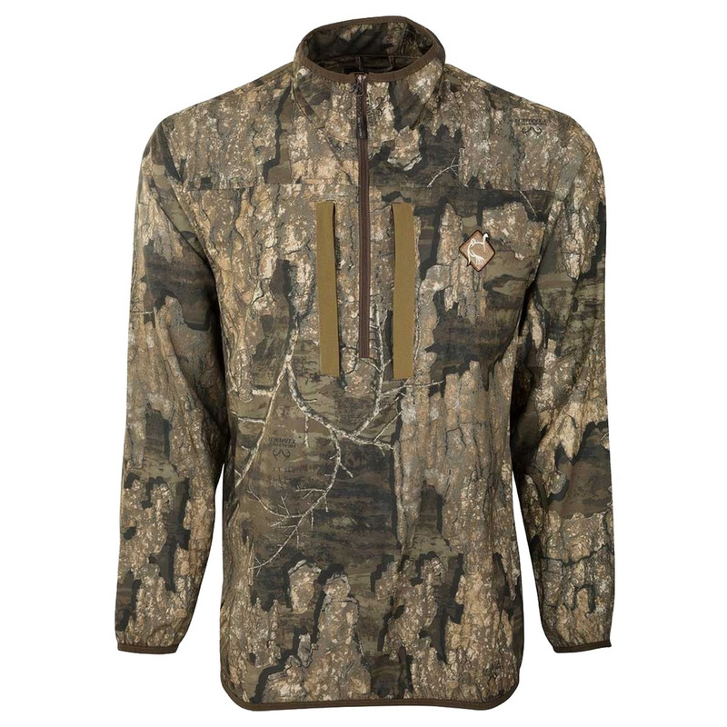 Ol' Tom Tech Quarter Zip Jacket with Spine Pad in Realtree Timber Color