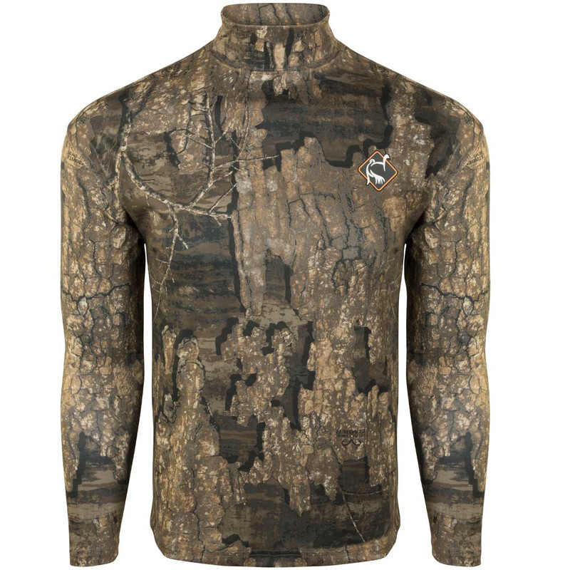 Ol' Tom Performance Long Sleeve Mock Turtleneck in Realtree Timber Color