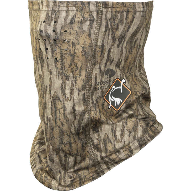 Ol' Tom Performance Half Facemask in Mossy Oak Bottomland Color