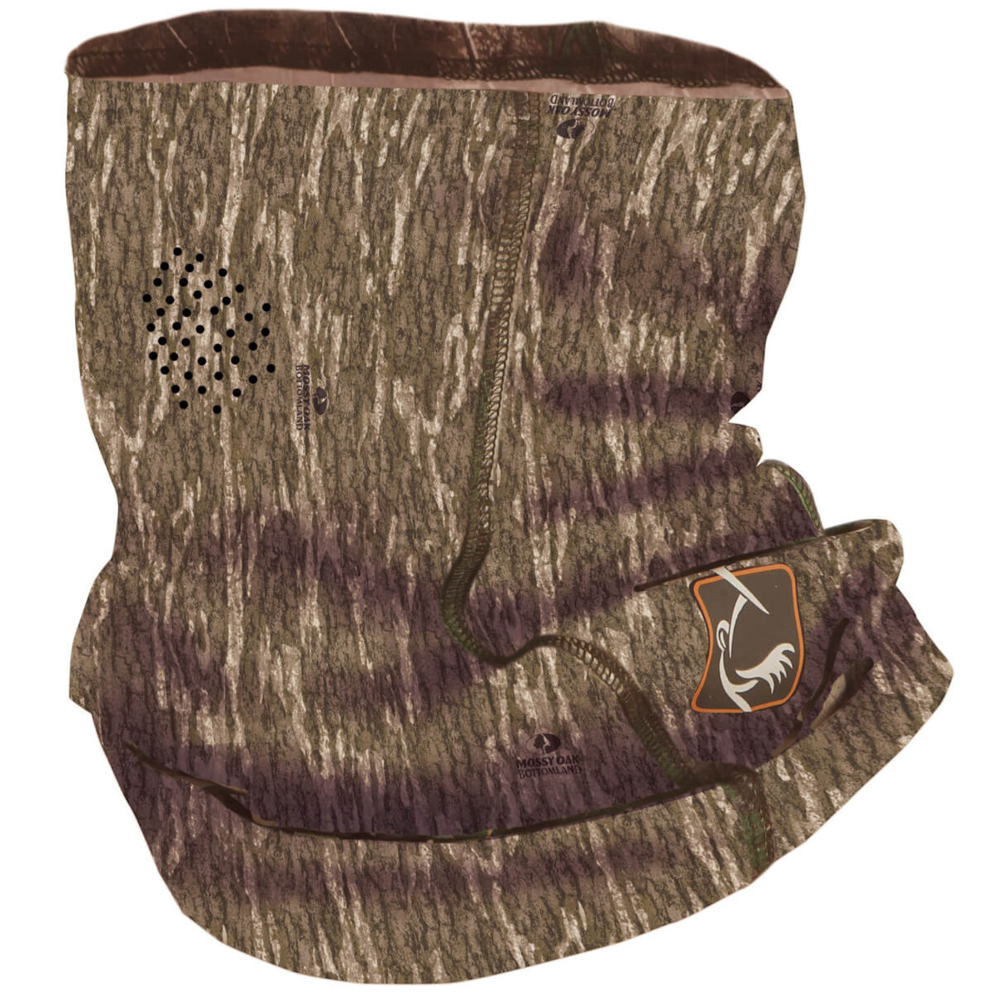 Ol' Tom Performance Buff Face Mask in Mossy Oak Bottomland Color