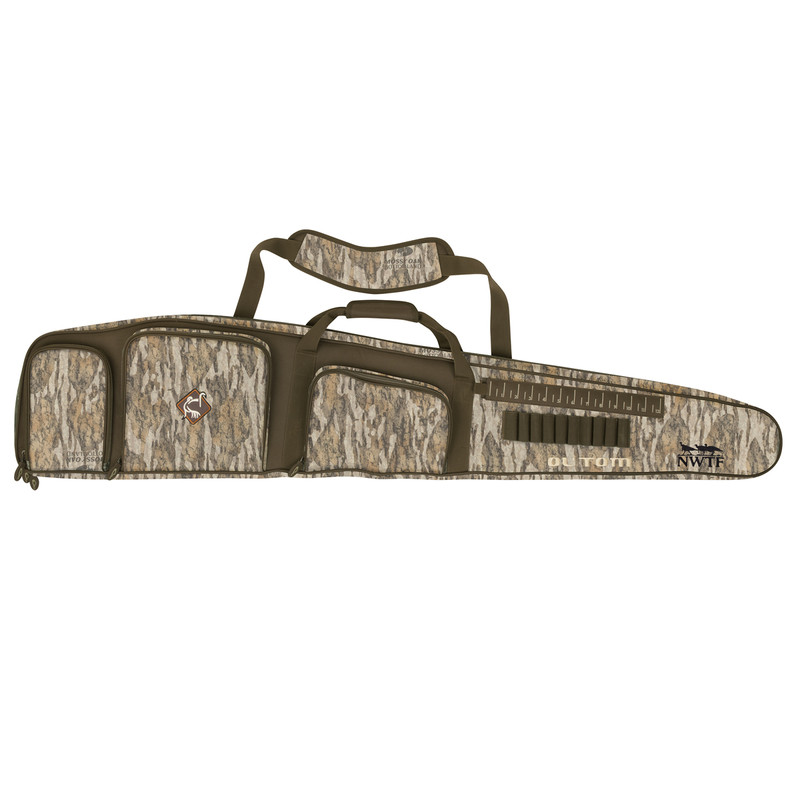 Ol' Tom Turkey Gun Case with Optics Pockets in Mossy Oak Bottomland Color