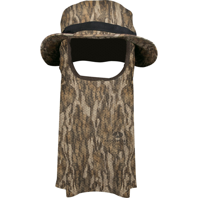 Ol'Tom Big Bob Boonie Hat With Mask in Mossy Oak Bottomland Color