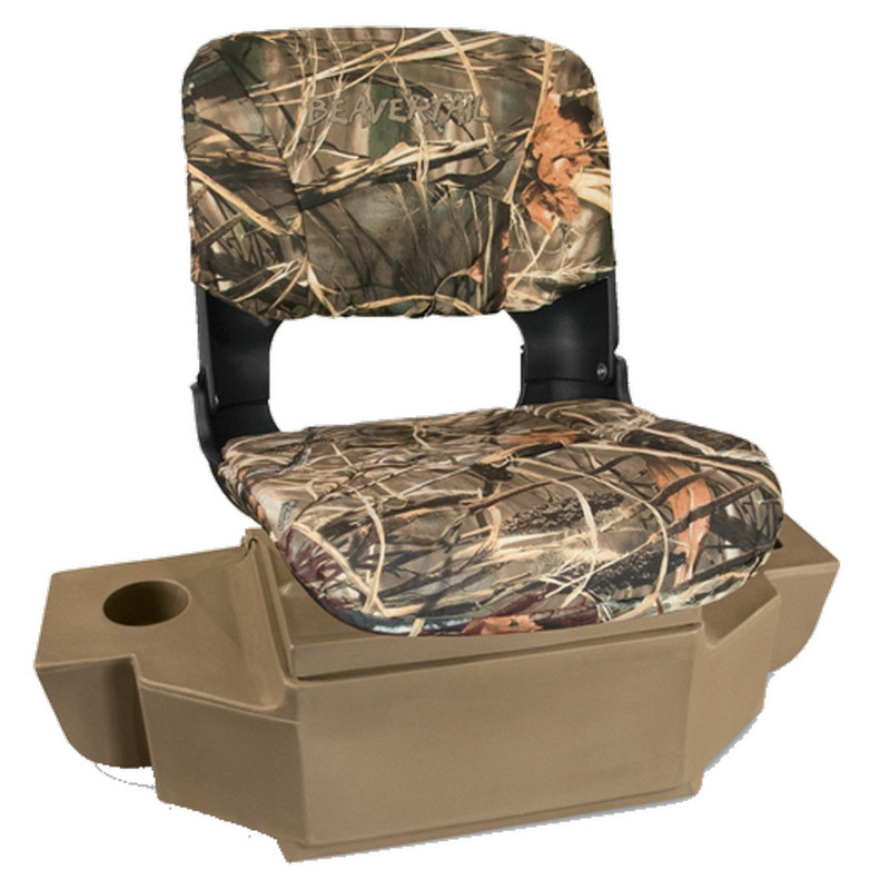 Beavertail 2000 Stealth Additional Seat in Marsh Brown Color
