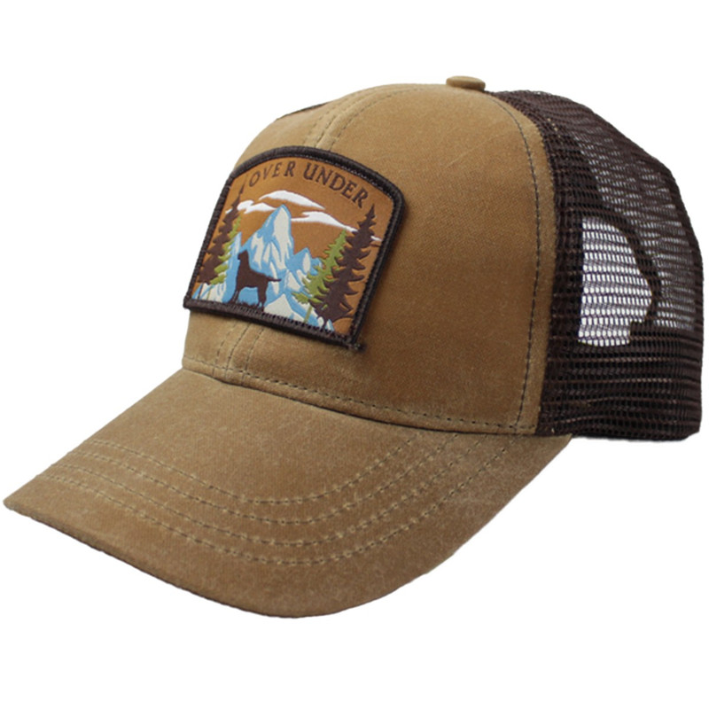 Over Under Mountain Lab Mesh Back Cap in Field Tan Color
