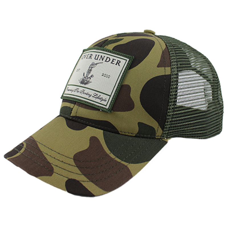 Over Under Old School Sportsman Mesh Back Cap in Camo Color