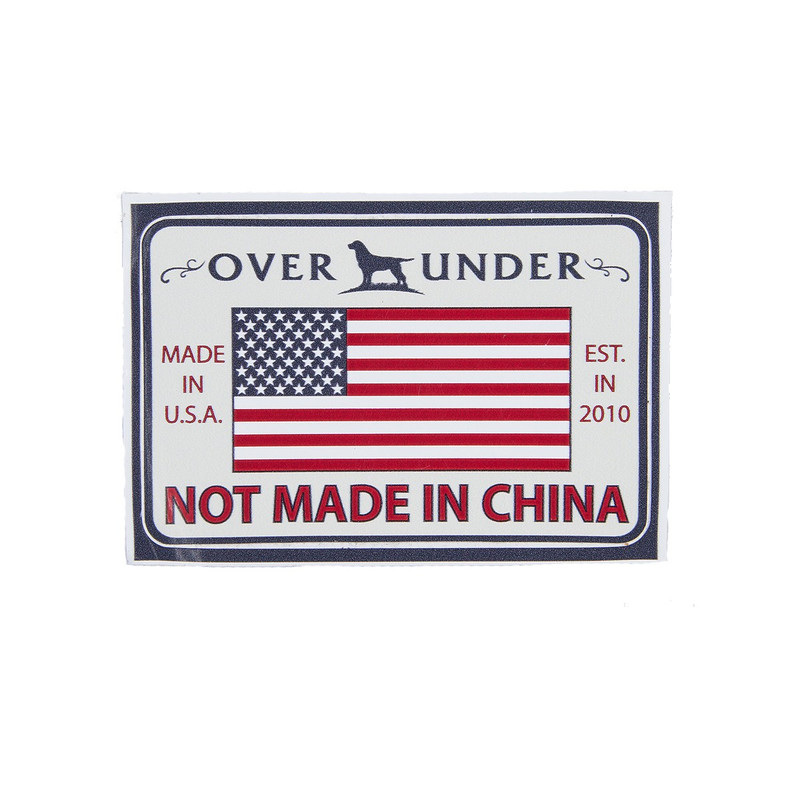 Over Under Not Made in China Sticker