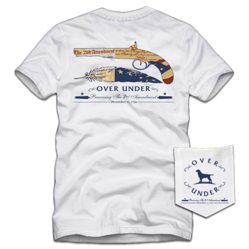 Over Under 2nd Amendment SS T-Shirt in White Color