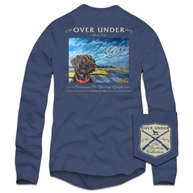 Over Under Marsh Lab Long Sleeve T-Shirt in Navy Color
