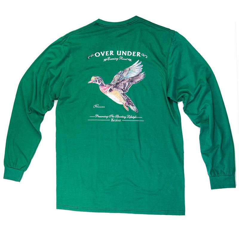 Over Under Evening Roost Long Sleeve T-Shirt in Charleston Green Color