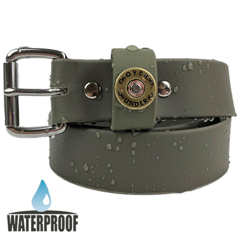 Over Under Waterproof Single Shot Belt in Olive Color