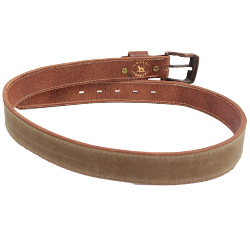 Over Under The Field Tan Waxed Canvas Belt in Field Tan Color