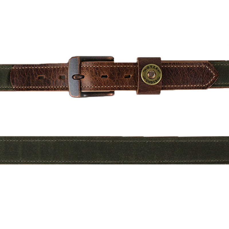 Over Under The Olive Waxed Canvas Belt in Olive