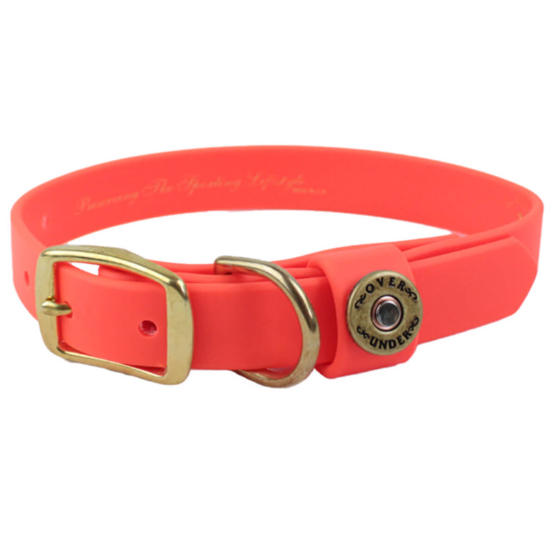 Over Under Water Dog Collar in Blaze Orange Color