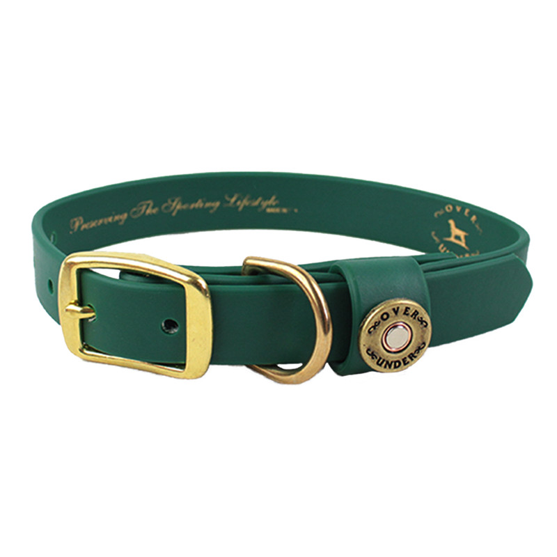 Over Under The Water Dog Collar in Alpine Green Color