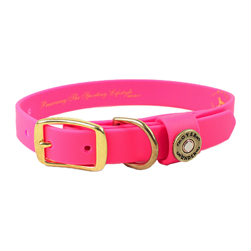 Over Under The Water Dog Collar in Pink Color