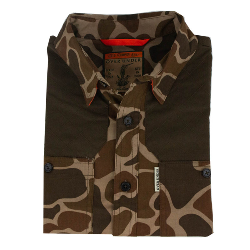 Over Under Field Champion Shirt in Old School Camo Color