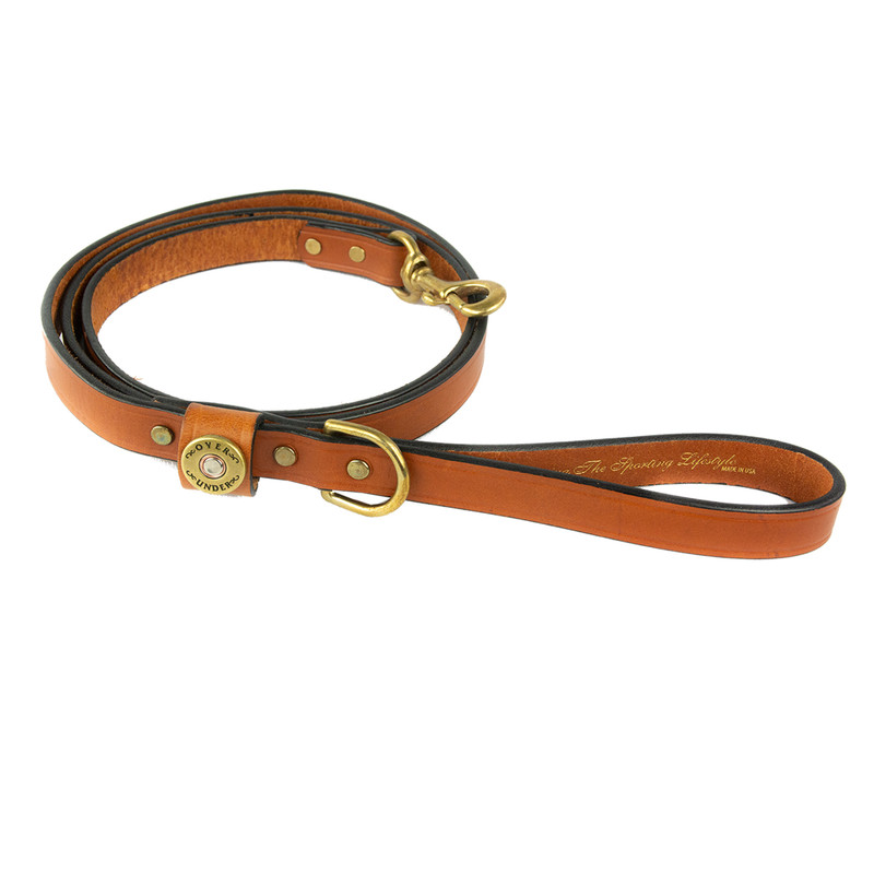 Over Under Finest in the Field Dog Leash in London Tan Color