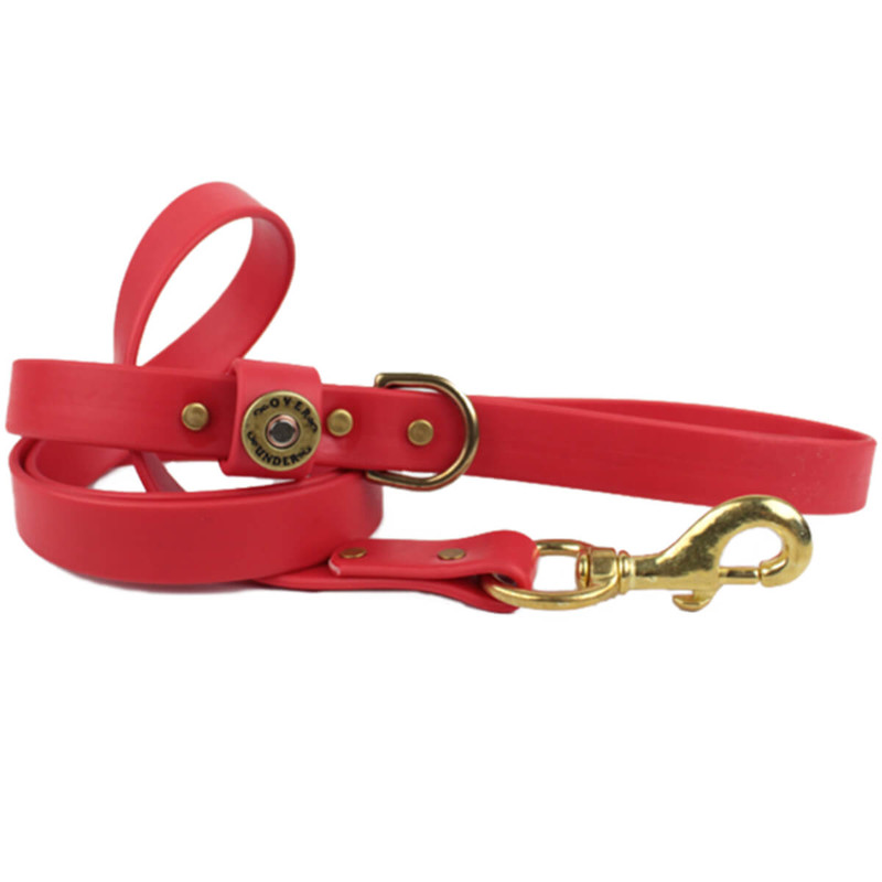 Over Under Water Dog Leash in Red Color