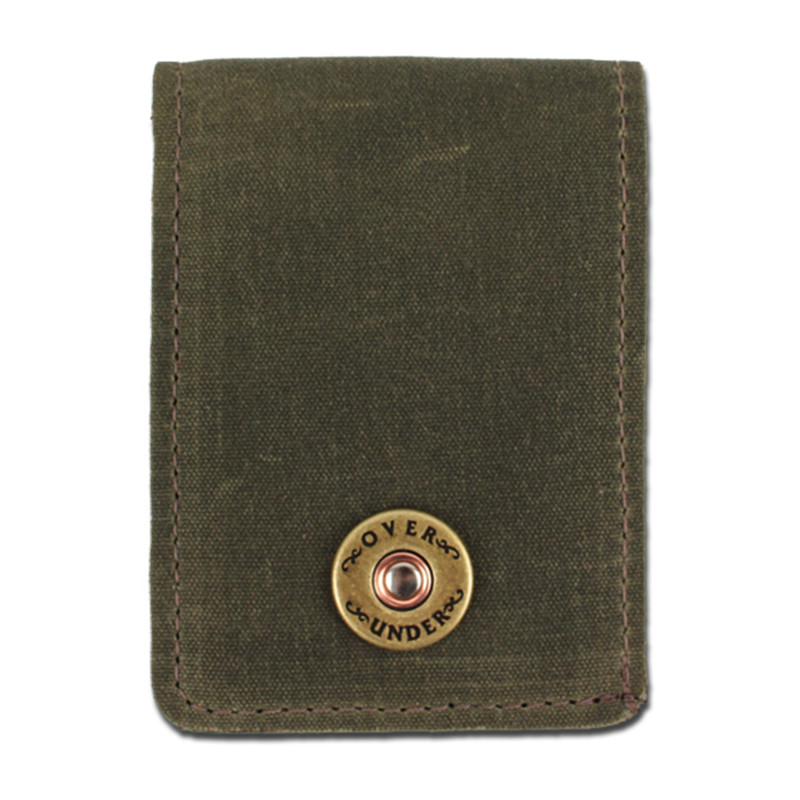 Over Under Waxed Canvas Bifold in Olive Color