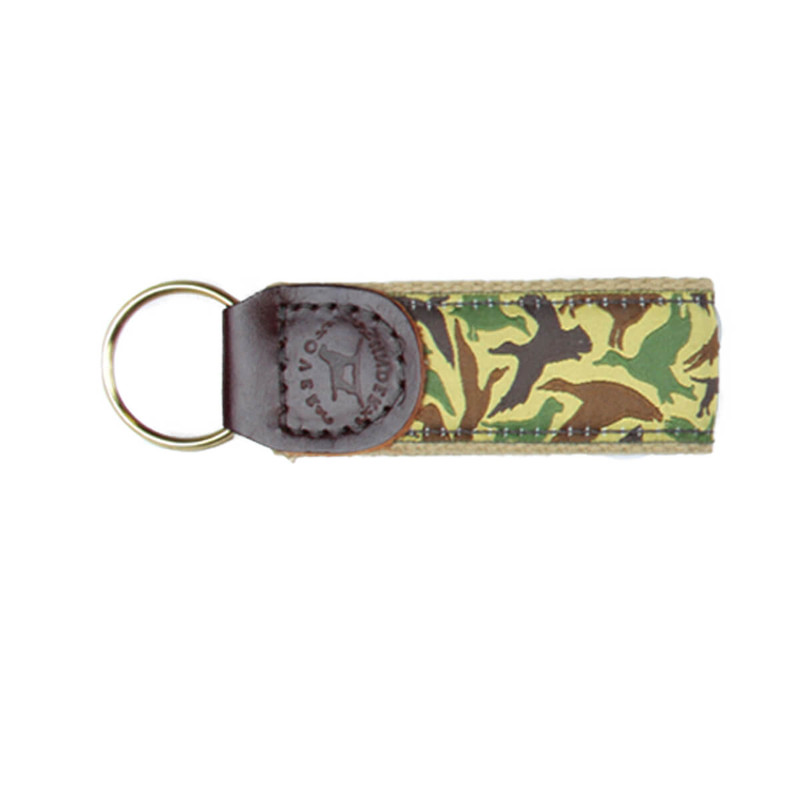 Over Under Ribbon Key Fob in Old School Camo Color