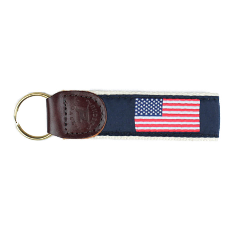 Over Under Ribbon Key Fob in Patriot Color