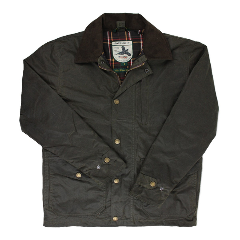 Over Under The Waxed Briar Field Jacket in Olive Color