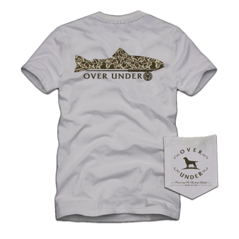 Over Under Youth Short Sleeve Old School Trout T-Shirt in Clay Color