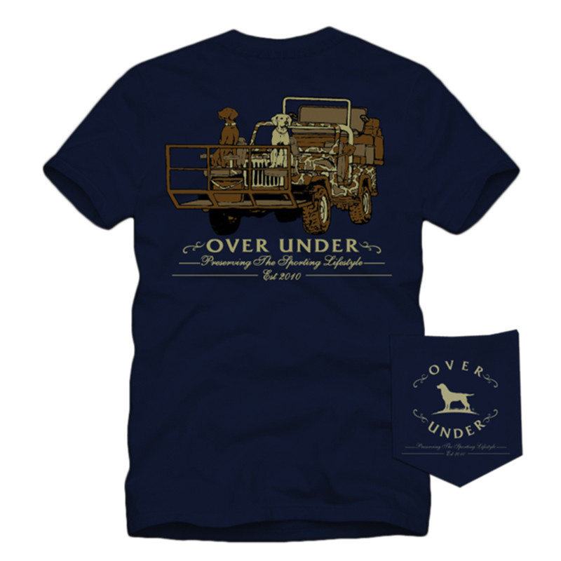 Over Under Short Sleeve Youth Shotgun Rider T-Shirt in Navy Color