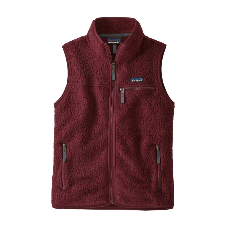 Patagonia Women's Retro Pile Vest in Chicory Red Color