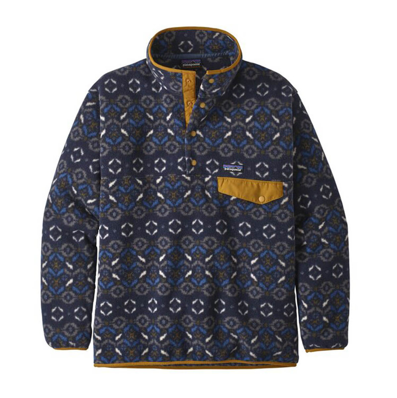 Patagonia Mens Synchilla Snap-T Fleece Pullover in Tundra Cluster Neo Navy Color