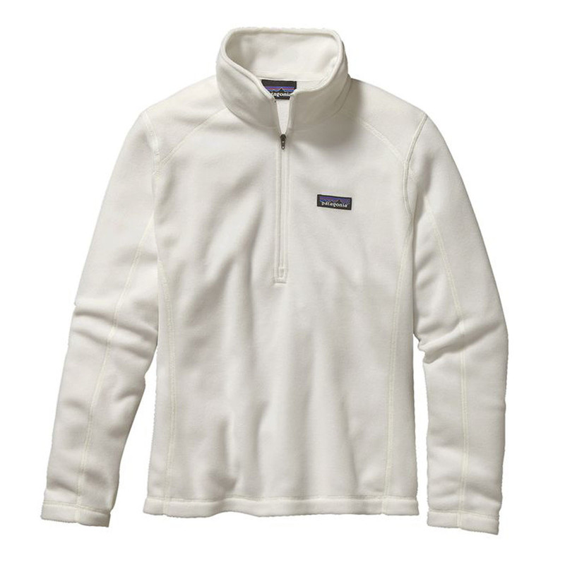 Patagonia Womens Micro D 1/4-Zip Fleece Pullover in Birch White Color