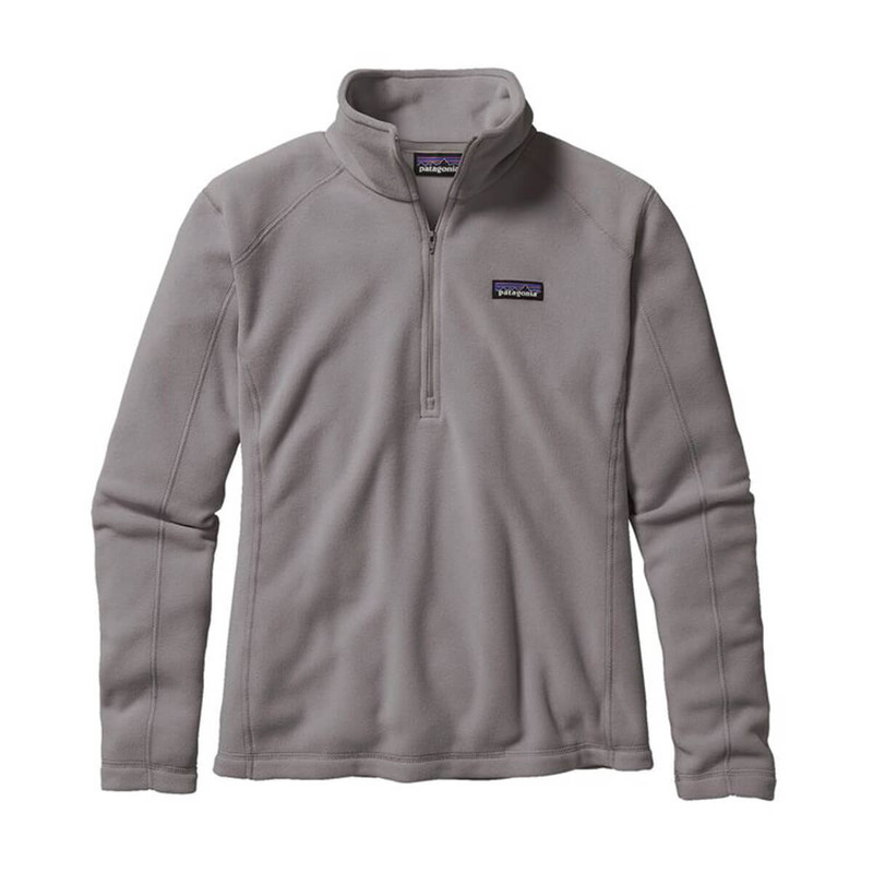 Patagonia Womens Micro D 1/4-Zip Fleece Pullover in Feather Grey Color