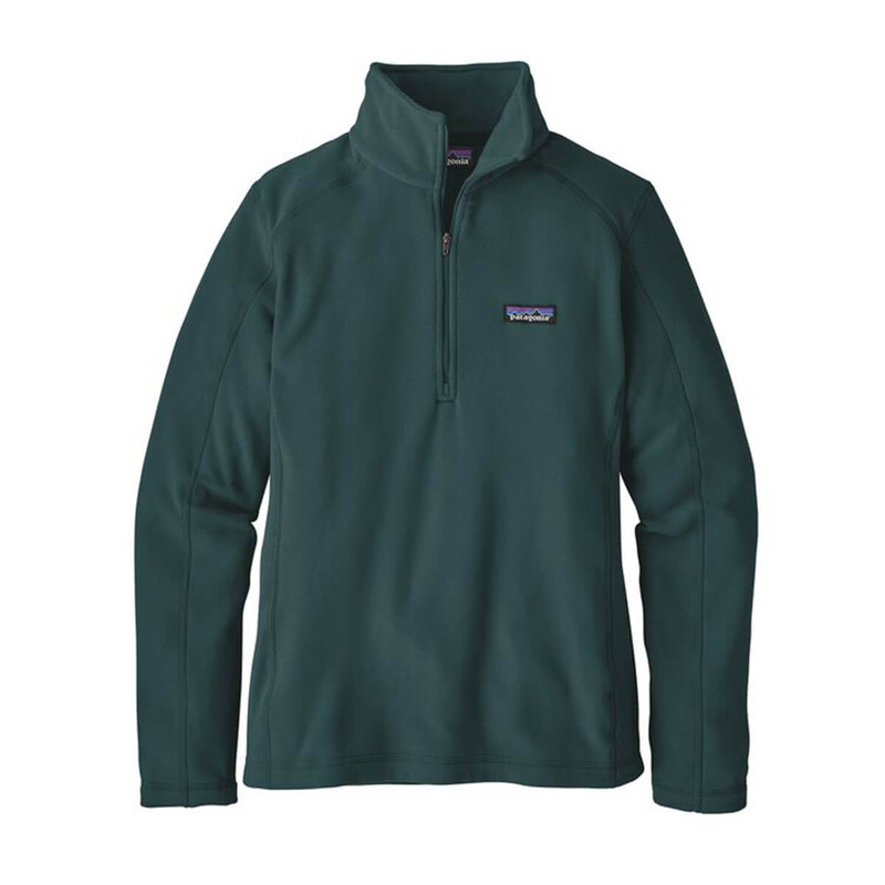 Patagonia Womens Micro D 1/4-Zip Fleece Pullover in Piki Green Color