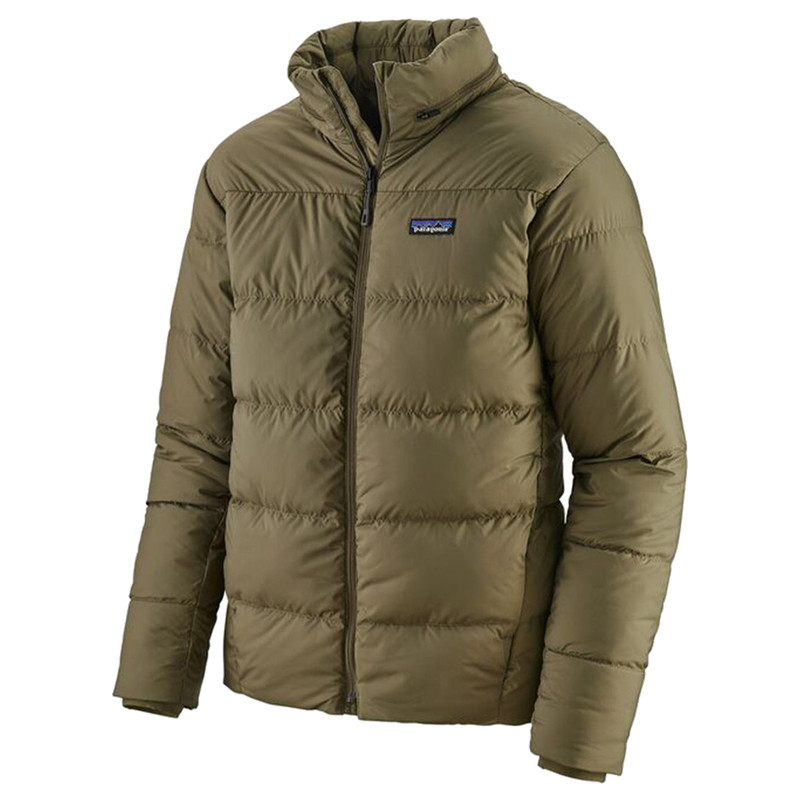 Patagonia Men's Silent Down Jacket in Sage Khaki Color