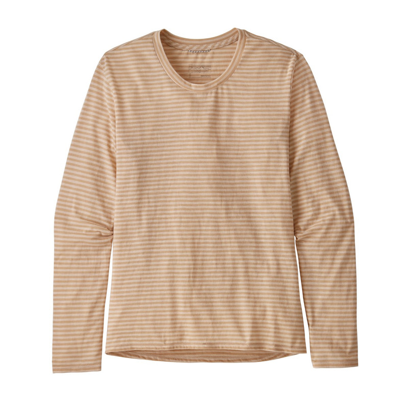 Patagonia Women's Long Sleeve Mainstay Shirt in Bumble Bee Tuber Tan Color
