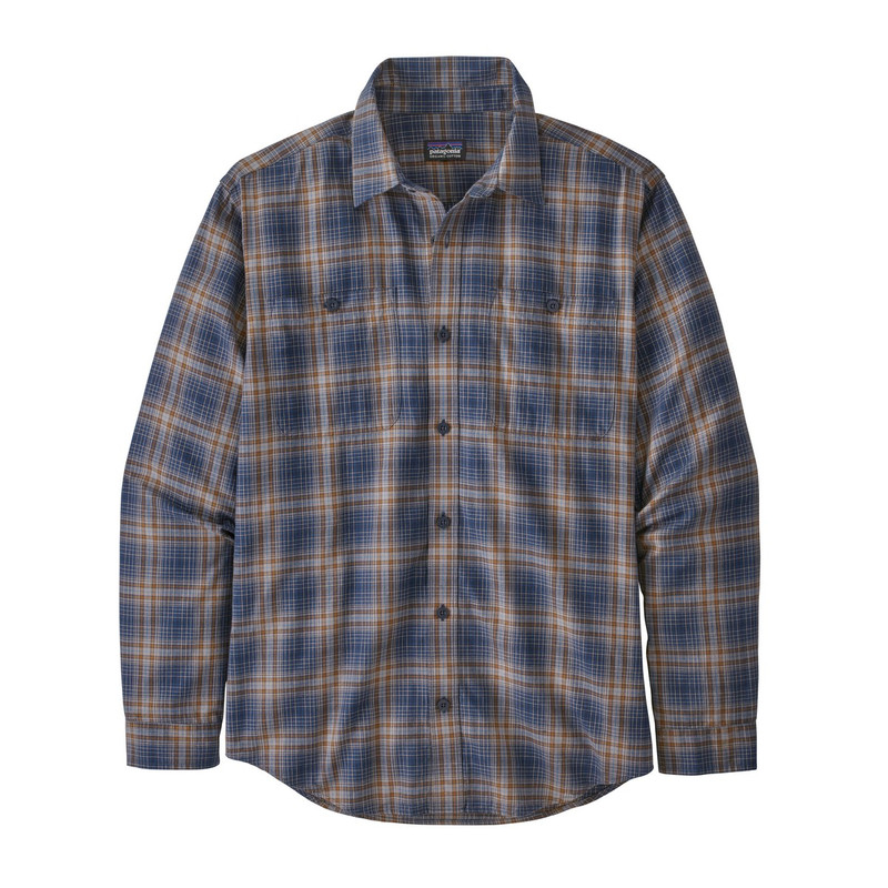 Patagonia Men's Long Sleeve Pima Cotton Shirt in Brew New Navy Color